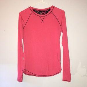 Tops - Pink athletic long sleeve shirt